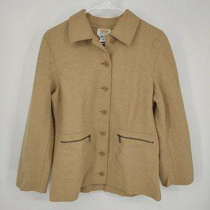 talbots alpaca wool blend jacket size medium petit